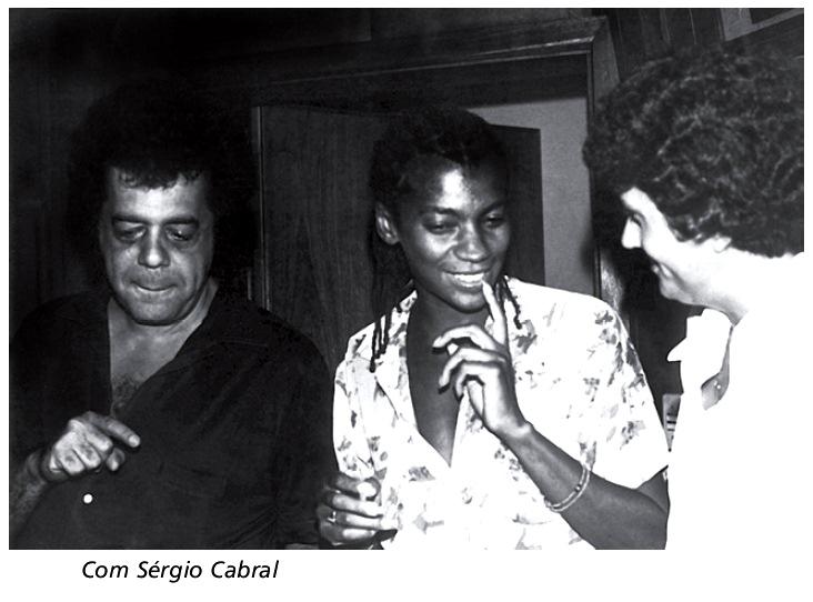 Zezé Motta com Sérgio Cabral
