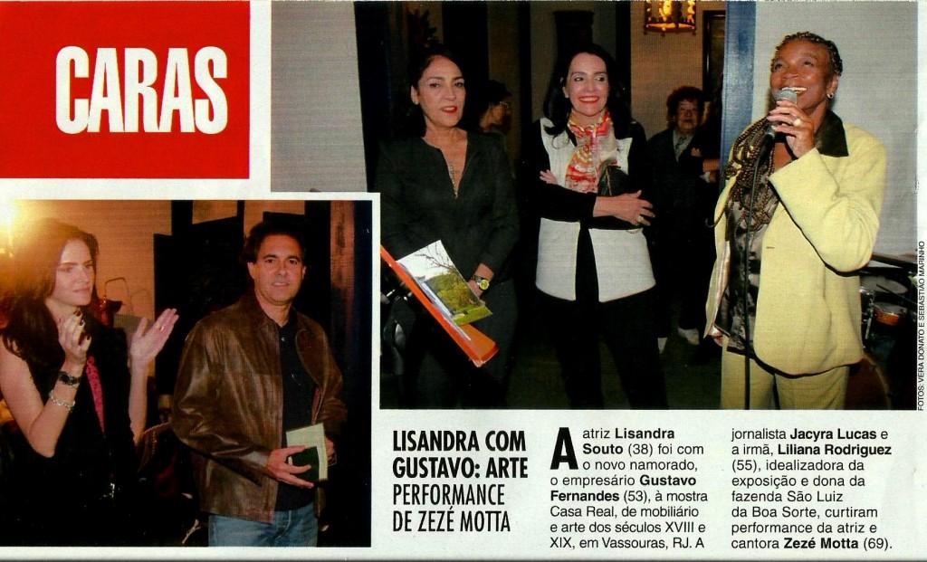 Zezé Motta na Revista Caras