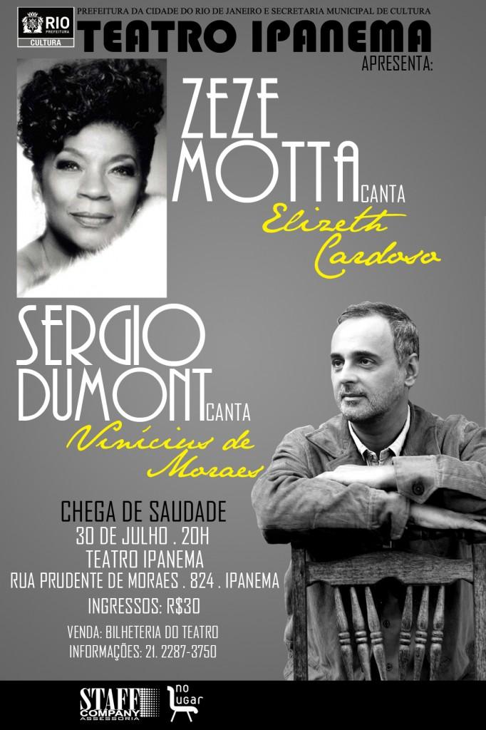 Zezé Motta e Sérgio Dumont Teatro Ipanema