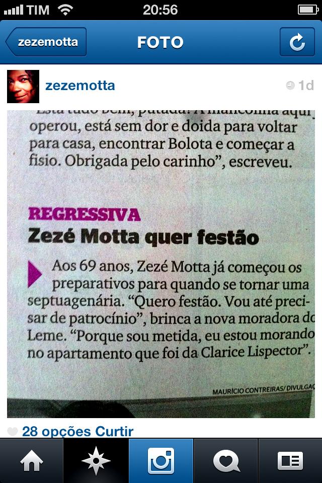 Zezé Motta jornal Extra