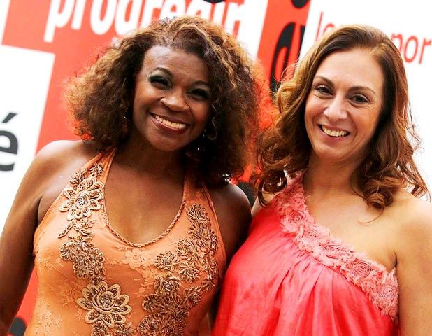 Zezé e Monica Trigo, secretária de Cultura de Paulínia