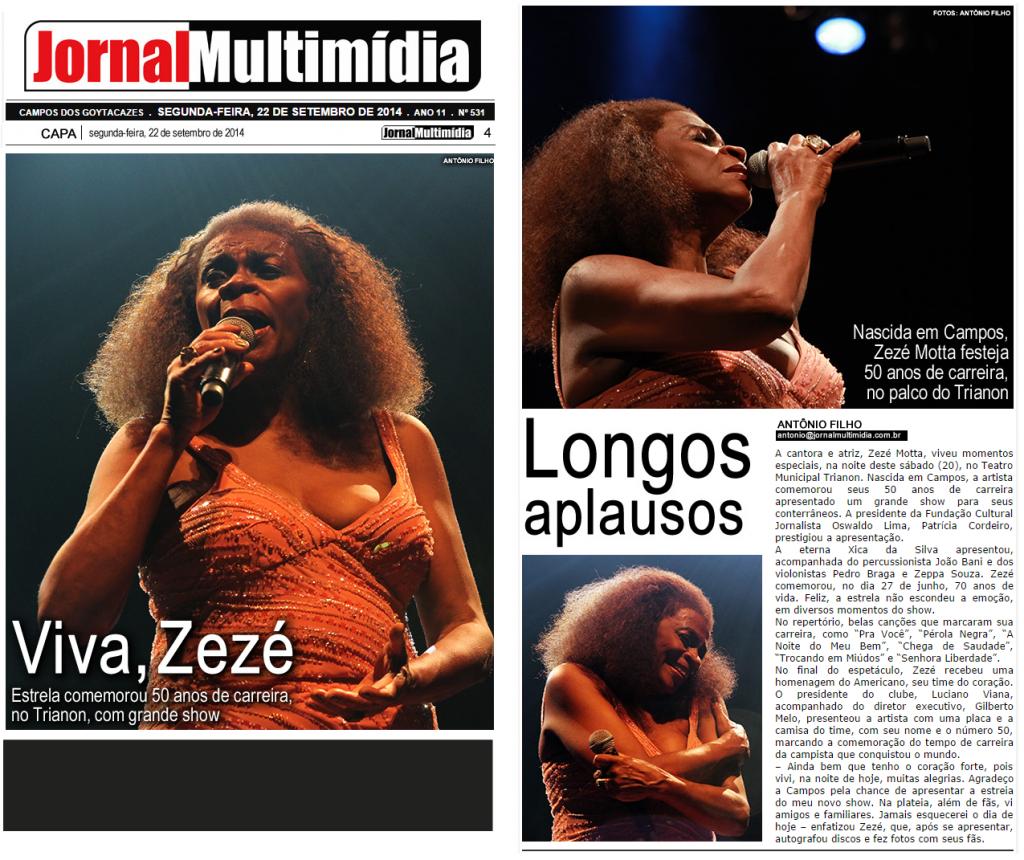 Zezé Motta Jornal-Multimidia