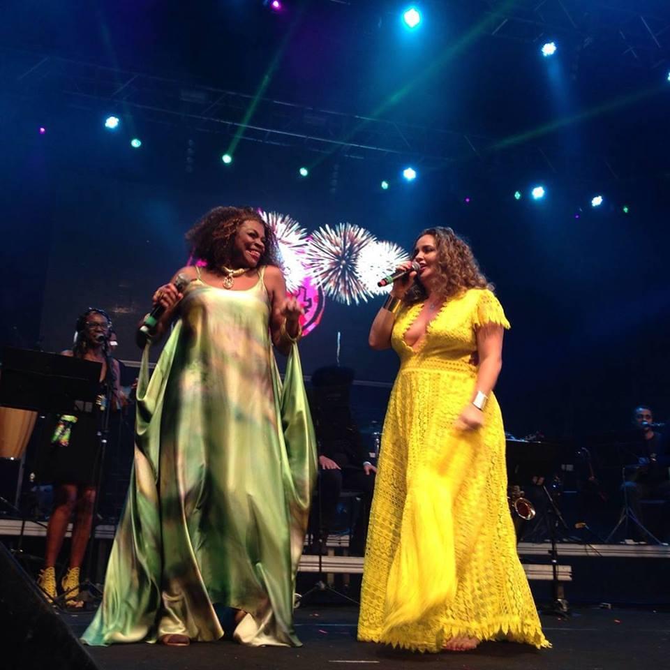 Zezé Mota e Karynna Spinelli mostram toda brasilidade do samba no Palco Dominguinhos