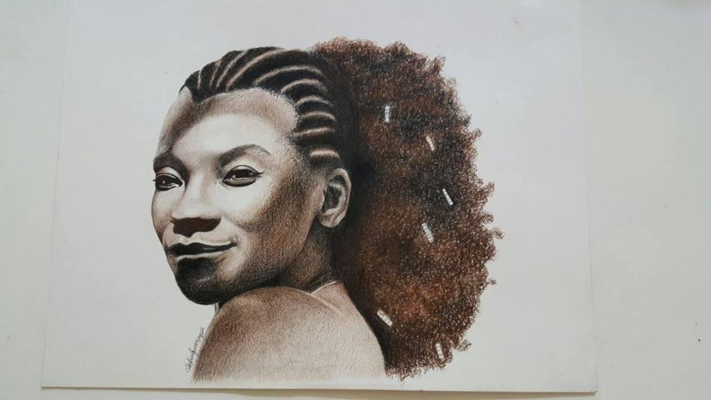 Zezé Motta desenhada por Sofia Vergara