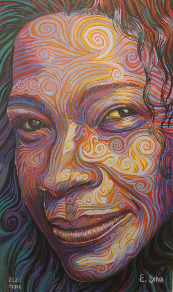 Zezé Mota, pintada pelo Artista Plástico Elvis da Silva pintor do Brasil-SP