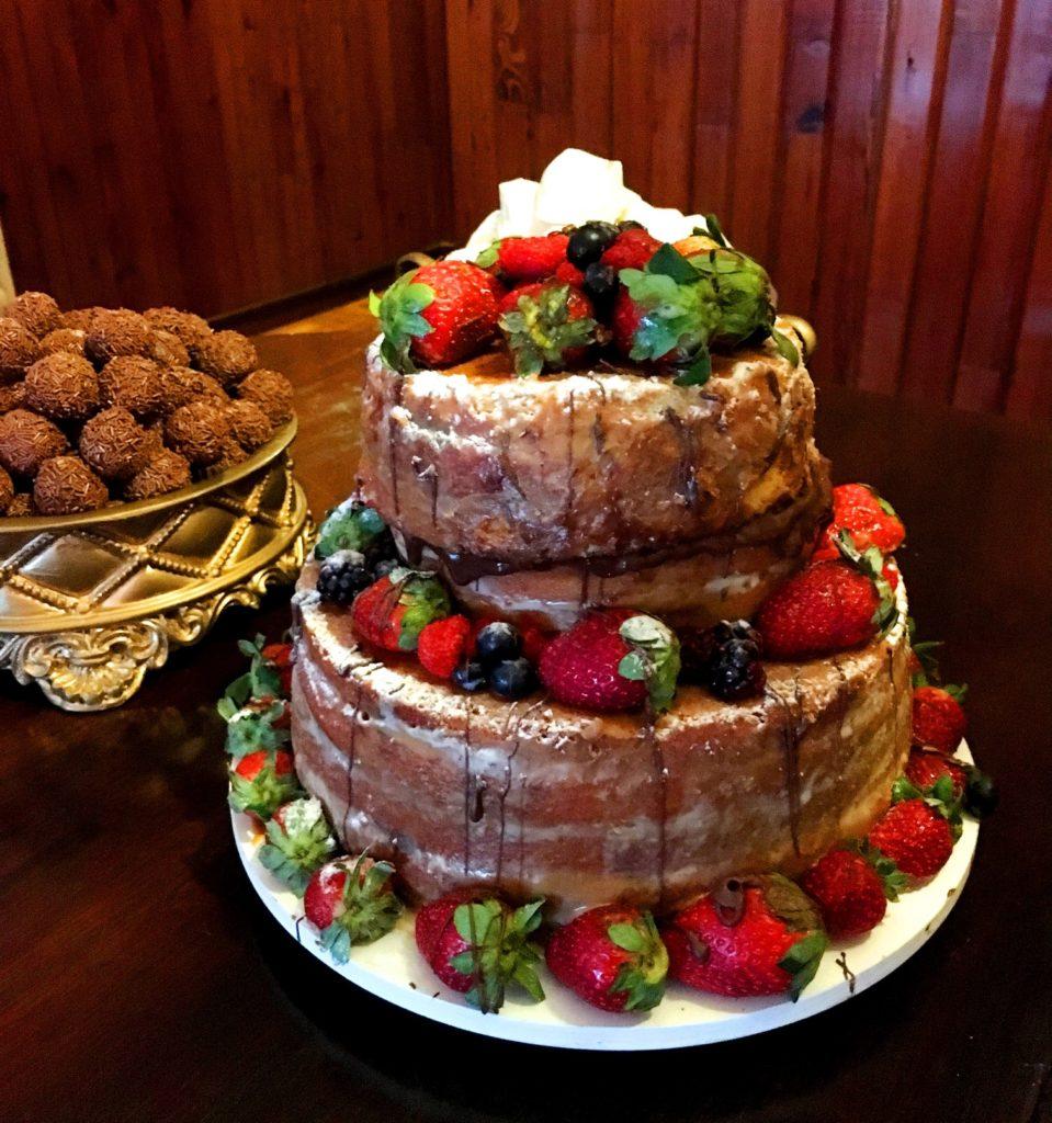 O naked cake da TR Doces