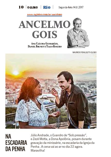 Ancelmo Gois - Zezé Motta