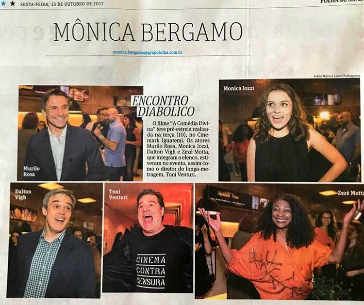 Zezé Motta Mônica Bergamo Folha de São Paulo