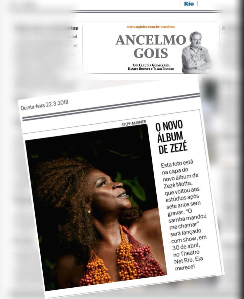 O Samba Mandou me Chamar - Zezé Motta - O Globo