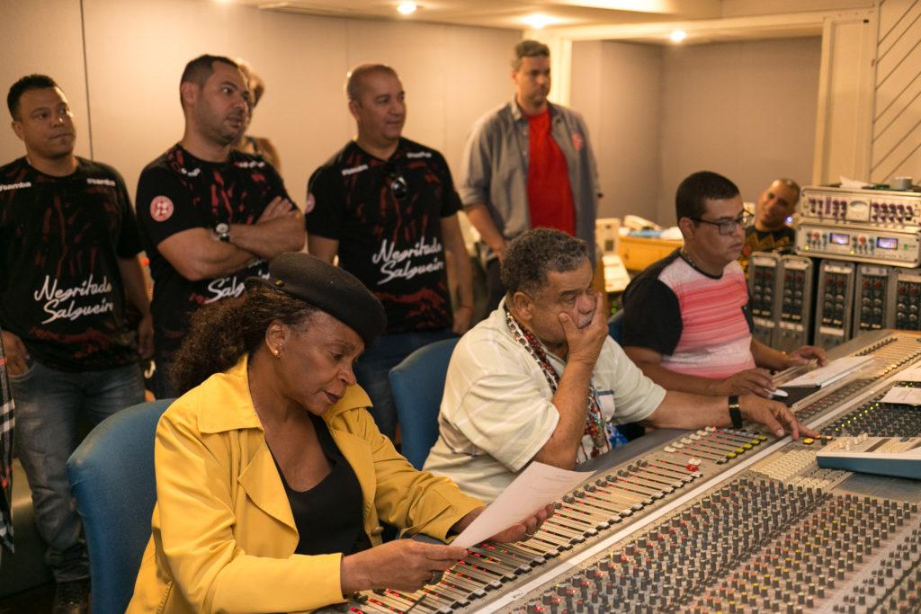 Zezé Motta na gravação do samba enredo do Salgueiro 2018