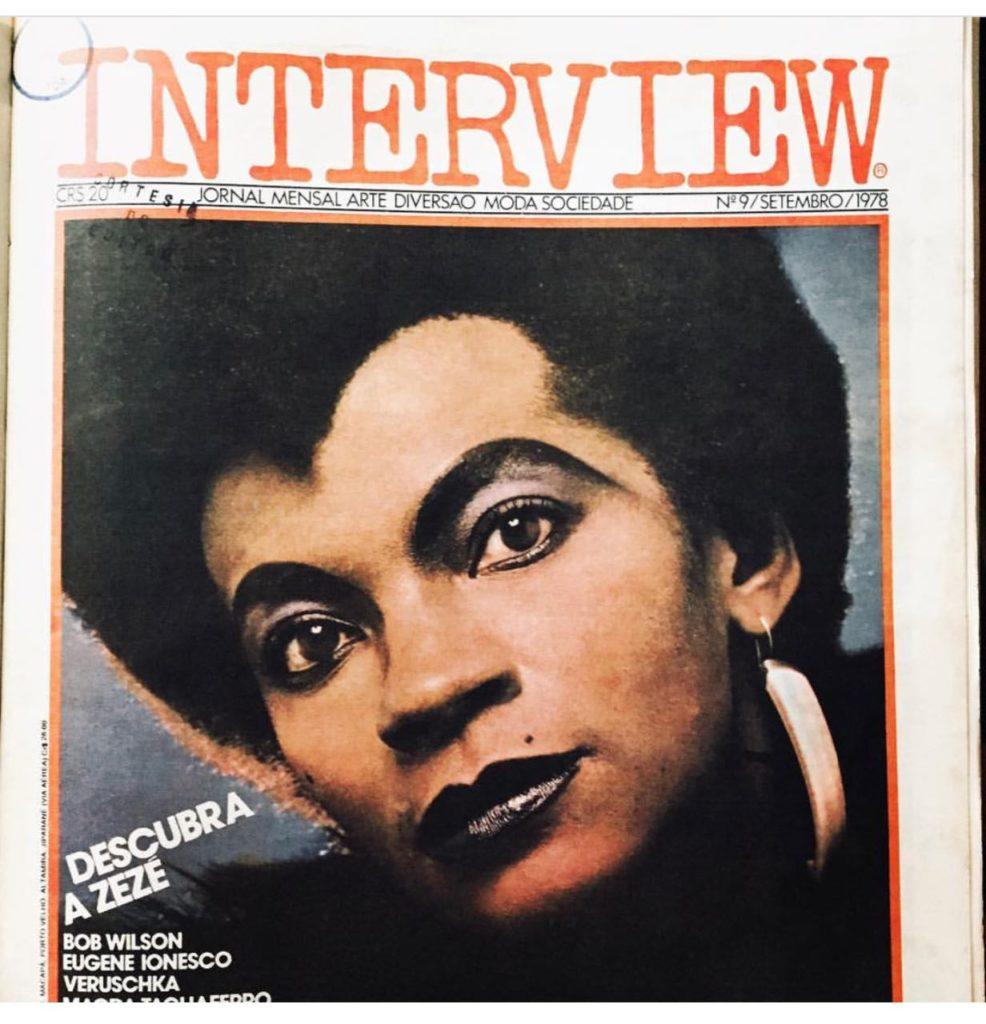 Zezé Motta na capa da Interview em 1978