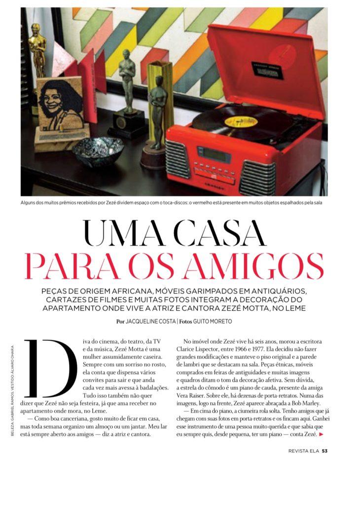 Revista Ela. O Globo. Zeze Motta
