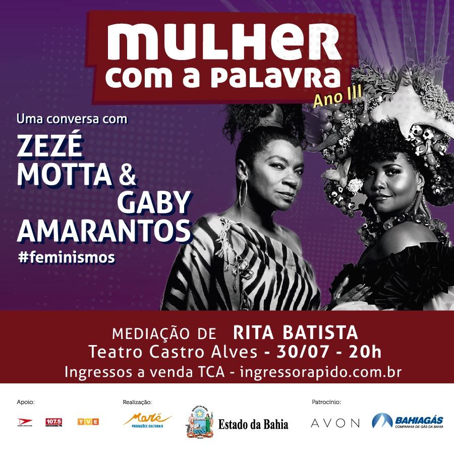 Zezé Motta e Gaby Amarantos no Mulher com a Palavra