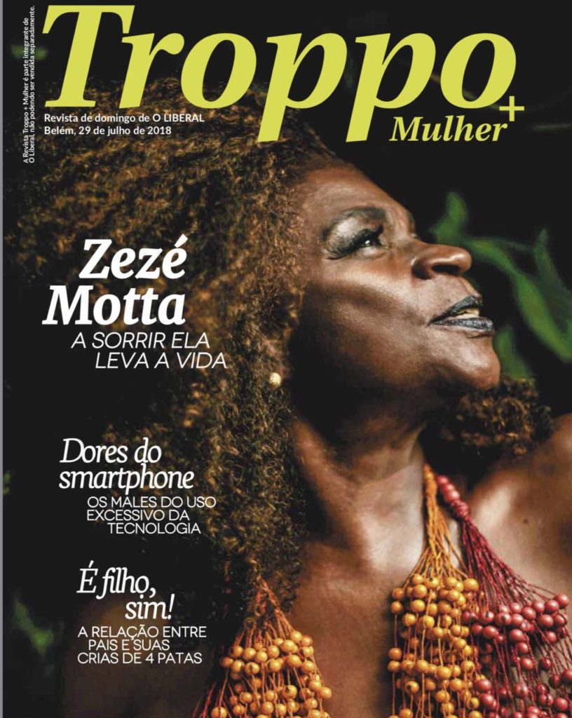 Zezé Motta na capa da Revista Troppo