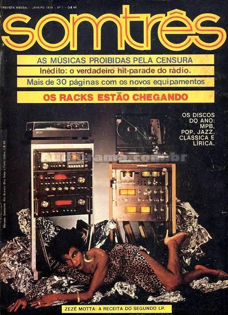 Zezé Motta na capa da Somtrês, 1979