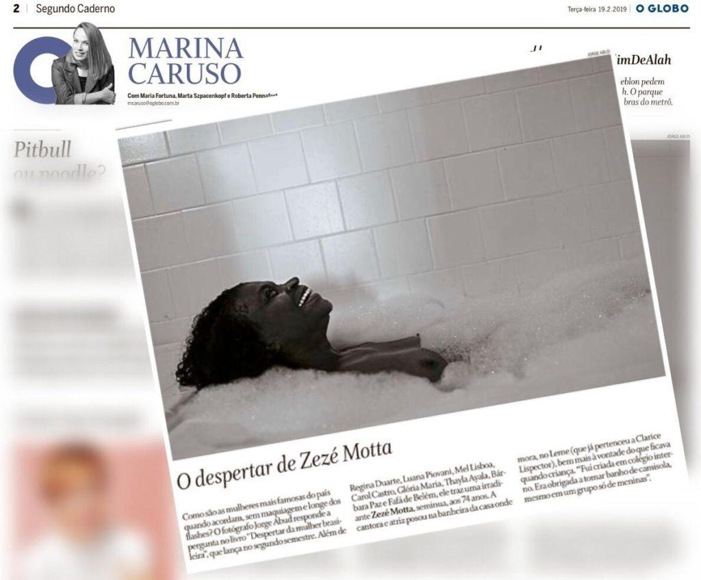 Zezé Motta no livro 'O Despertar da Mulher Brasileira, coluna Marina Caruso - O Globo