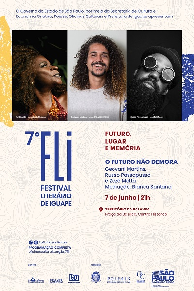 Zezé Motta no 7º FLI - Festival Literário de Iguape | O Futuro não Demora no 7º FLI