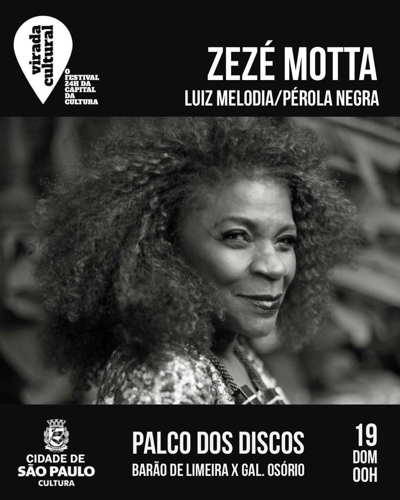Show de Zezé Motta na Virada Cultural 2019 em São Paulo