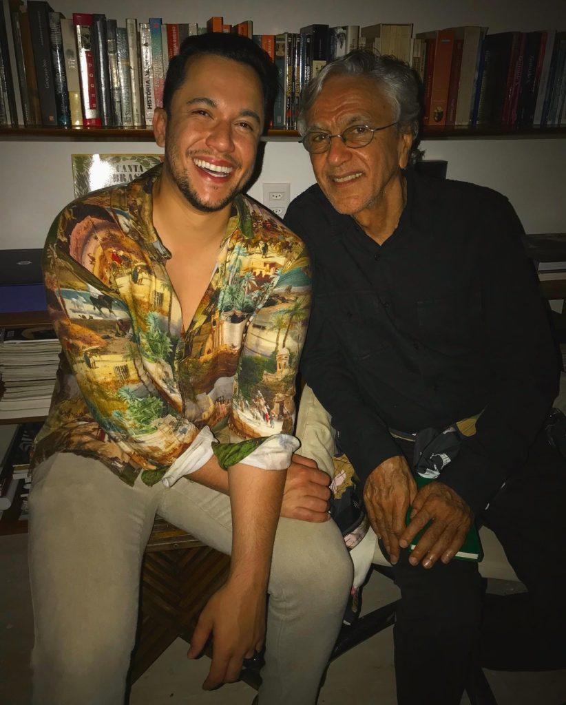 Vinicius Belo e Caetano Veloso | Foto: Reprodução