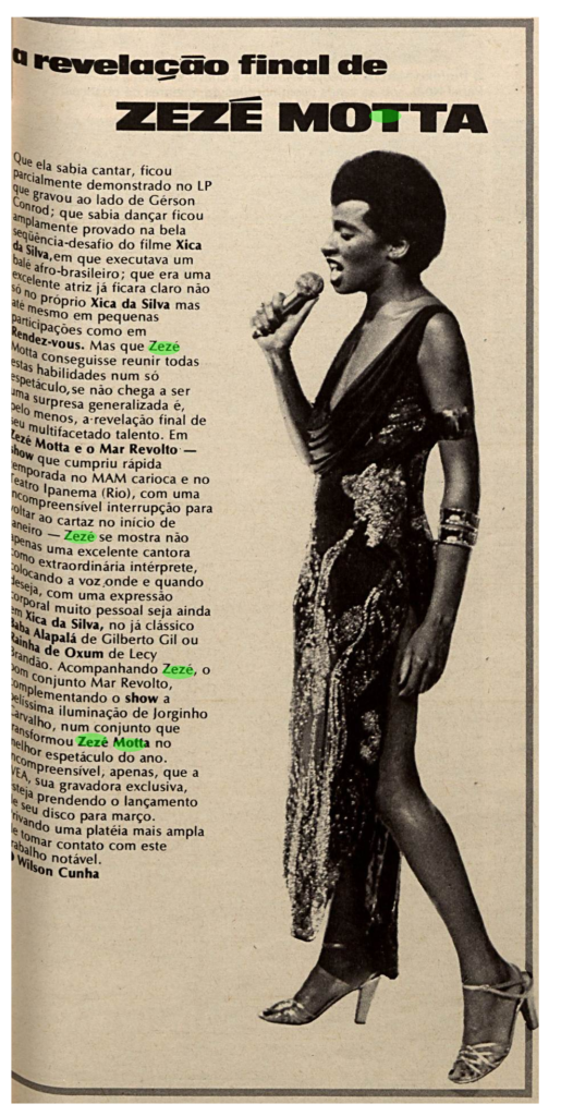 Revista Machete 1977 - Zezé Motta