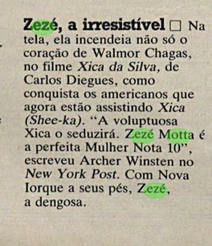 Zezé Motta no New York Post (1)