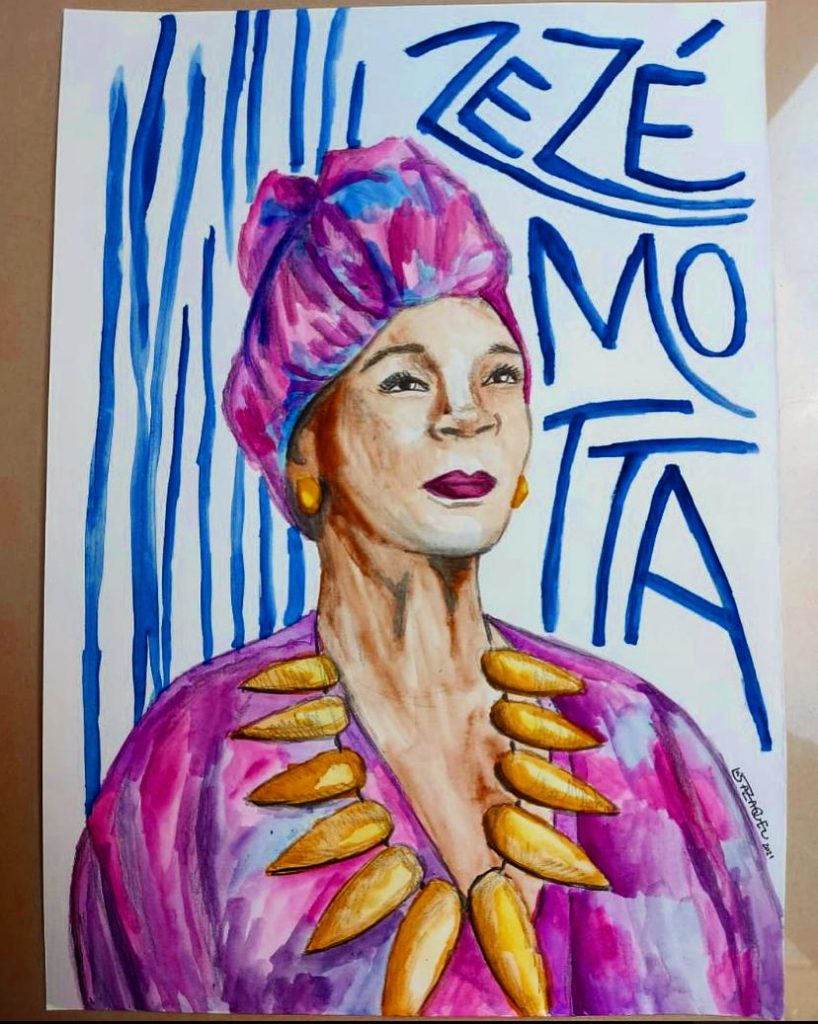 Artes Zezé Motta. por Luiza Zaqueu