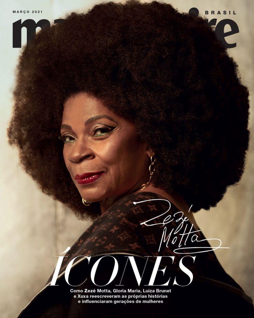 zezé motta capa revista  Marie Claire