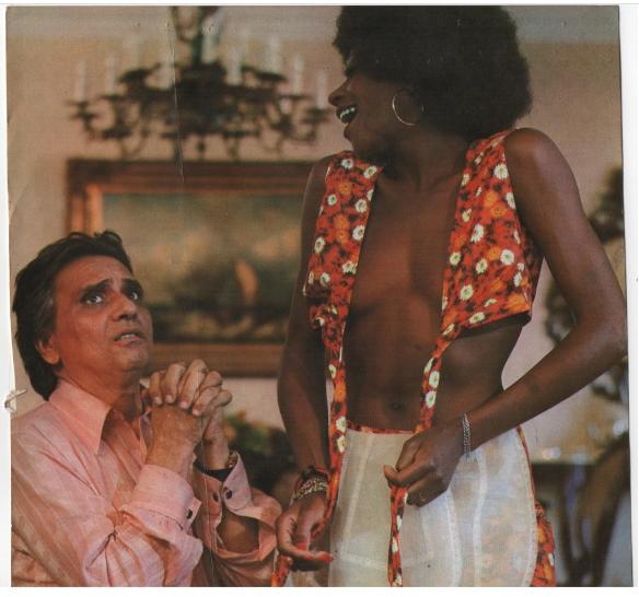 Cena do Filme Os melhores Momentos da Pornochanchada. Agosto de 1980. Atores  Jorge Dório e Zezé Motta