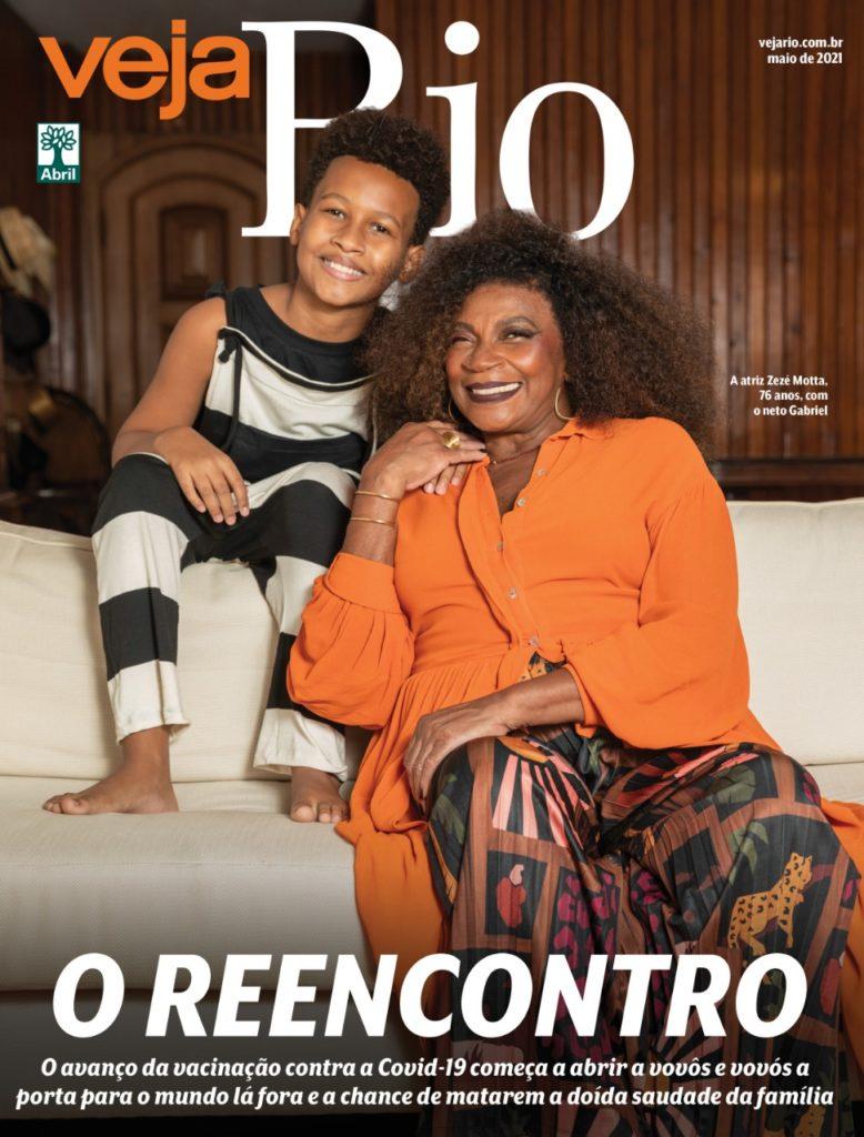 Zezé Motta na capa da Veja Rio
