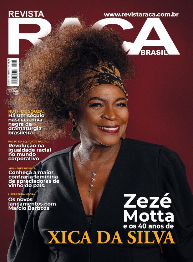 Zezé Motta na capa da Revista Raça